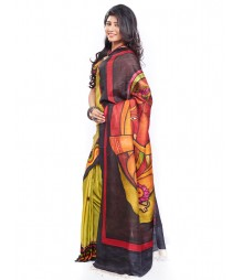 Modern Art Hand Painted Silk Saree CBD112