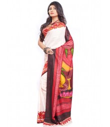 Modern Art Hand Painted Silk Saree CBD113