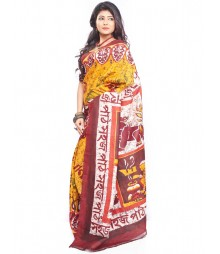 Modern Art Hand Painted Silk Saree CBD115