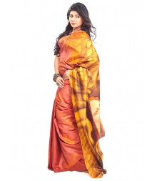 Modern Art Hand Painted Silk Saree CBD116