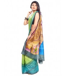 Modern Art Hand Painted Silk Saree CBD118