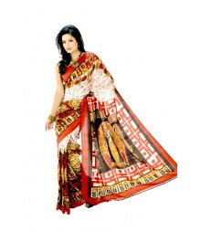 Multi Colour Bengali Nabo Barsho Silk Saree DSC0094
