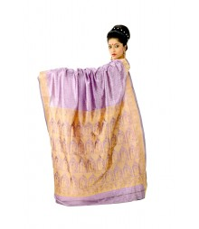 Light Purple Colour Artificial Baluchuri Silk Saree DSC0111