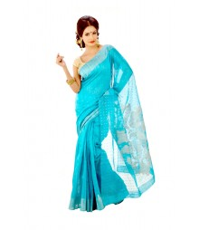 Glorious Sea Green Traditional Pure Silk Saree DSC0189