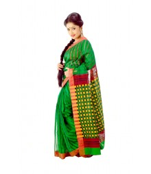 Modern Green Colour Traditional Handloom Silk Saree DSC0265