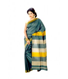 Effulgent Green Colour Artificial Baluchuri Silk Saree DSC0344