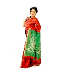 Gorgeous Red Colour Traditional Pure Silk Saree DSC0453