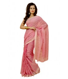 Shiny Light Pink Colour Designer Saree DSCA0151