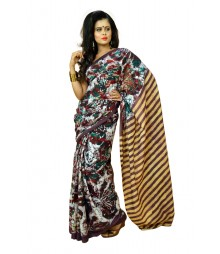 Simple Multi Colour Designer Cotton Batik Saree DSCA0203