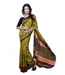 Floral Printed Multi Colour Designer Silk Saree DSCA0320