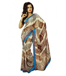 Modern Fashionable Multi Colour Designer Chiffon Saree DSCA0360