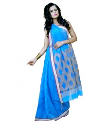 Stylish Blue Colour Designer Cotton Saree DSCA0456