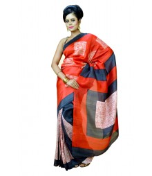 Fashionable Multi Colour Designer Silk Saree DSCA0555