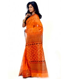 Stunning Orange & Brown Color Saree DSCB0005