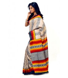 Multi Color Charming Tassar Silk Saree DSCB0023