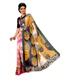 Multi Colour Pure Silk Handmade Saree DSCB1141