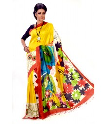 Yellow Colour Designer Saree DSCB1147