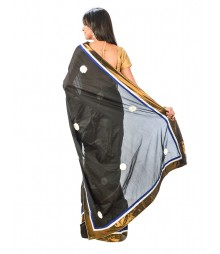 Black Designer Art Silk Saree DSCE0118