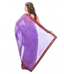 Violate Color Designer Net Saree DSCE0179
