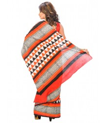 Orange Designer Saree DSCE0208