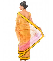 Yellow Color Bengal Handloom Saree DSCE0240