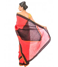 Black & Red Color Designer Saree DSCE0348