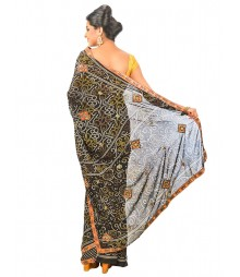 Black Color Joypuri Design Saree DSCE0359