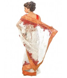 Designer Super Net Saree DSCE0365