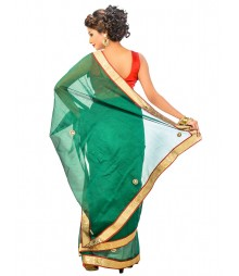 Green Color Designer Saree DSCE0467