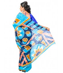 Nave Blue Color Matka Saree DSCE0492