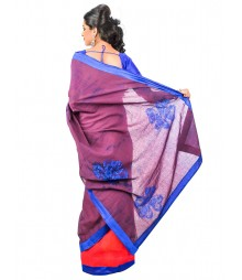 Magenta & Royal Blue Designer Saree DSCE0499