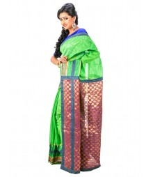 Green & Maroon Color Designer Saree DSCE0505