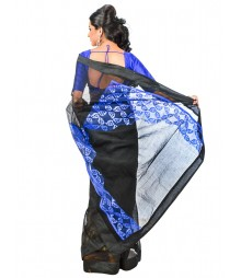 Black & Blue Color Designer Wear Saree DSCE0517