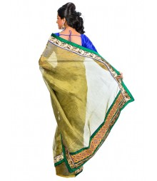 Green Color Designer Saree DSCE0558
