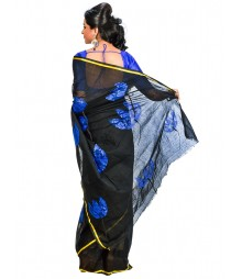 Black Color Bengal Handloom Saree DSCE0576