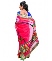 Magenta Color Designer Silk Saree DSCE0588