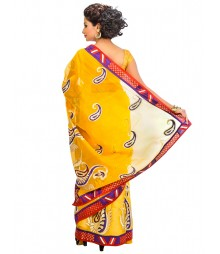 Yellow Color Designer Saree DSCE0655