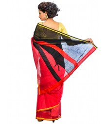 Red And Black Party Wear Saree DSCE0673