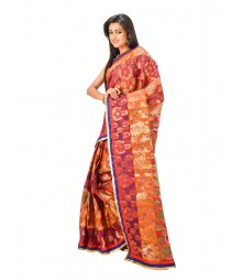 Mustard Color Chanderi Silk Saree DSCE0730