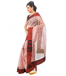 Maroon Colors Self Design Saree DSCG009