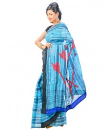 Blue Colors Self Design Regular Wear Saree DSCG010