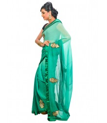 Green Color Self Design Saree DSCG012