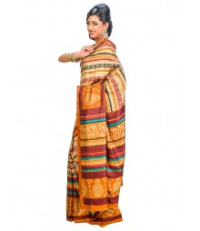 Multi Colors Self Design Saree DSCG016