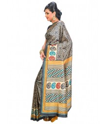 Black & Blue Self Design Saree DSCG017