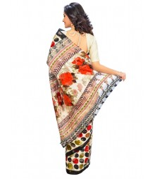Multi Colors Self Design Regular Wear Saree DSCG021