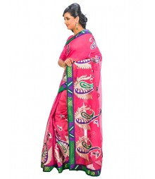Magenta Color Self Design Regular Wear Saree DSCG032