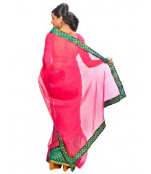 Magenta Color Self Design Regular Wear Saree DSCG036