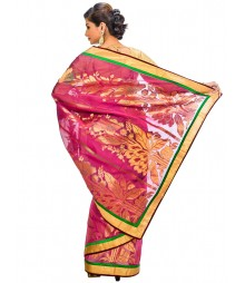 Magenta Color Self Design Regular Wear Saree DSCG041