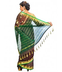 Brown Color Self Design Regular Wear Saree DSCG061