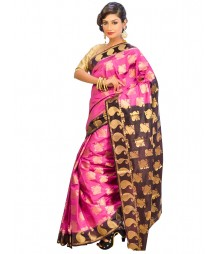 Magenta Color Self Design Regular Wear Saree DSCG063